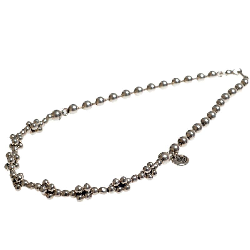 Ciclon Triple Ball Chain Necklace