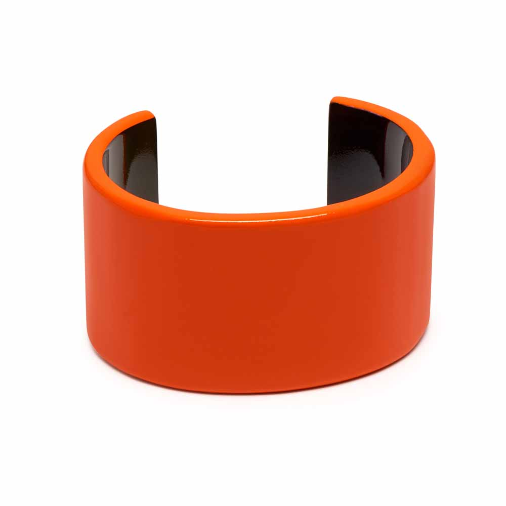 Branch Jewellery Orange Lacquered Buffalo Horn Cuff Bracelet