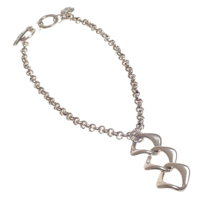Ciclon Chain Necklace with Tripple Link Pendant|UK stockist
