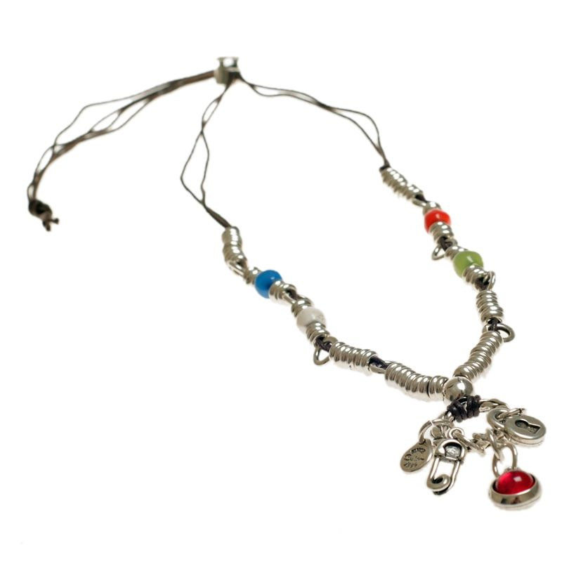 Ciclon Padlock and Safety Pin Charm Necklace|UK stockist