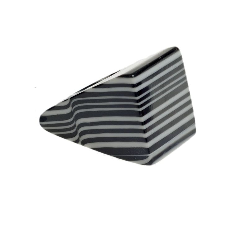 Jackie Brazil Large Square Ring in Black & White Liquorice Mix|Oxfordshire Jewellery Boutique