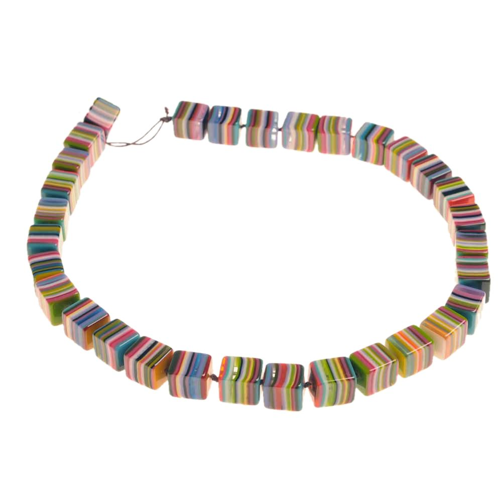 Jackie Brazil Liquorice cube necklace in Mix Colours|Oxfordshire Jewellery Boutique