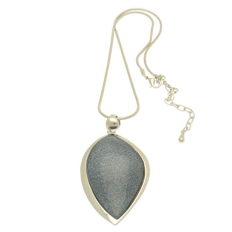 Miss Milly  Grey Chunky Pendant