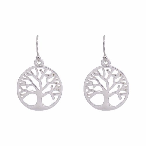 Bisoux Jewellery|Simple Tree of Life Earrings in Silver